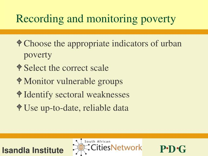 Recording and monitoring poverty