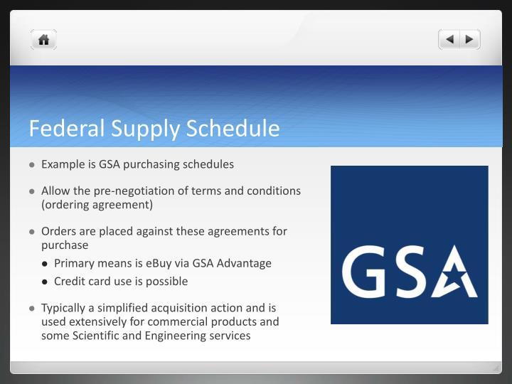 Federal Supply Schedule