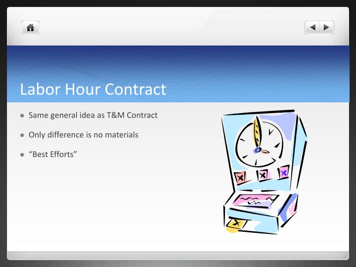 Labor Hour Contract