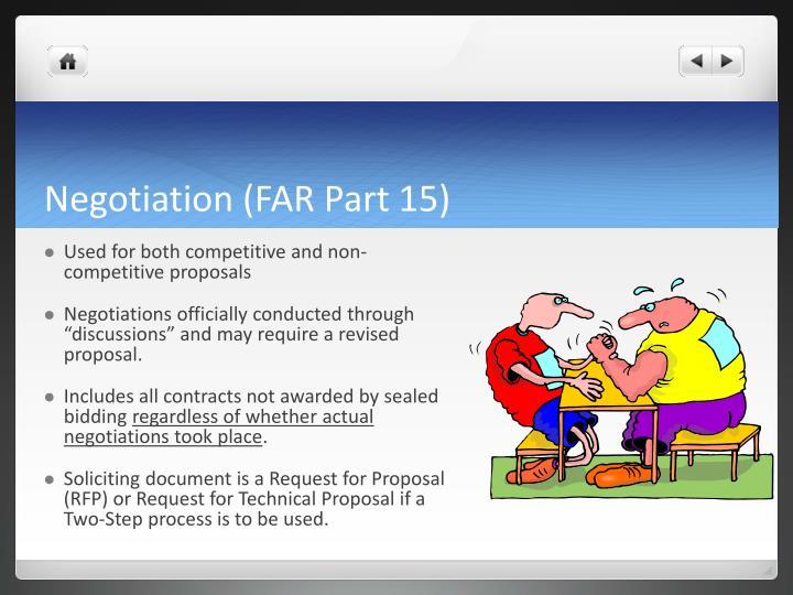 Negotiation (FAR Part 15)