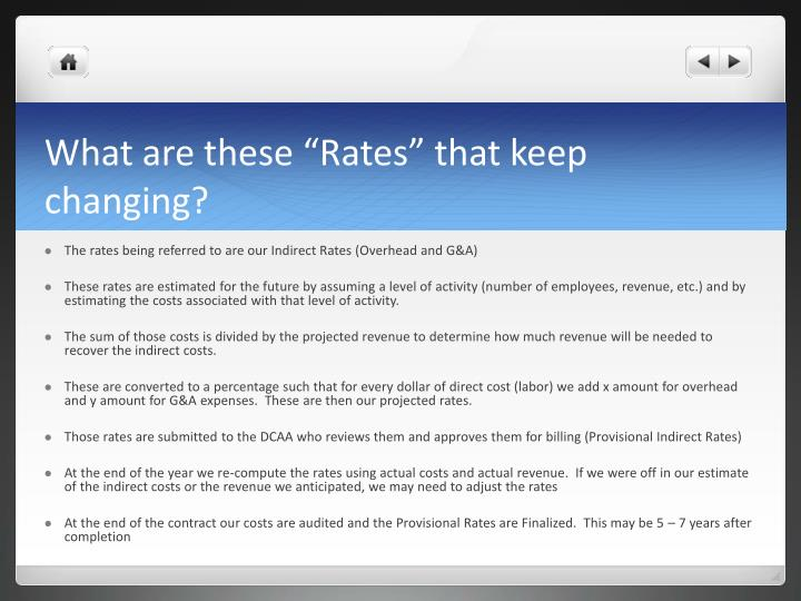 """What are these """"Rates"""" that keep changing?"""