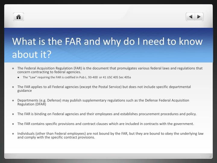 What is the far and why do i need to know about it