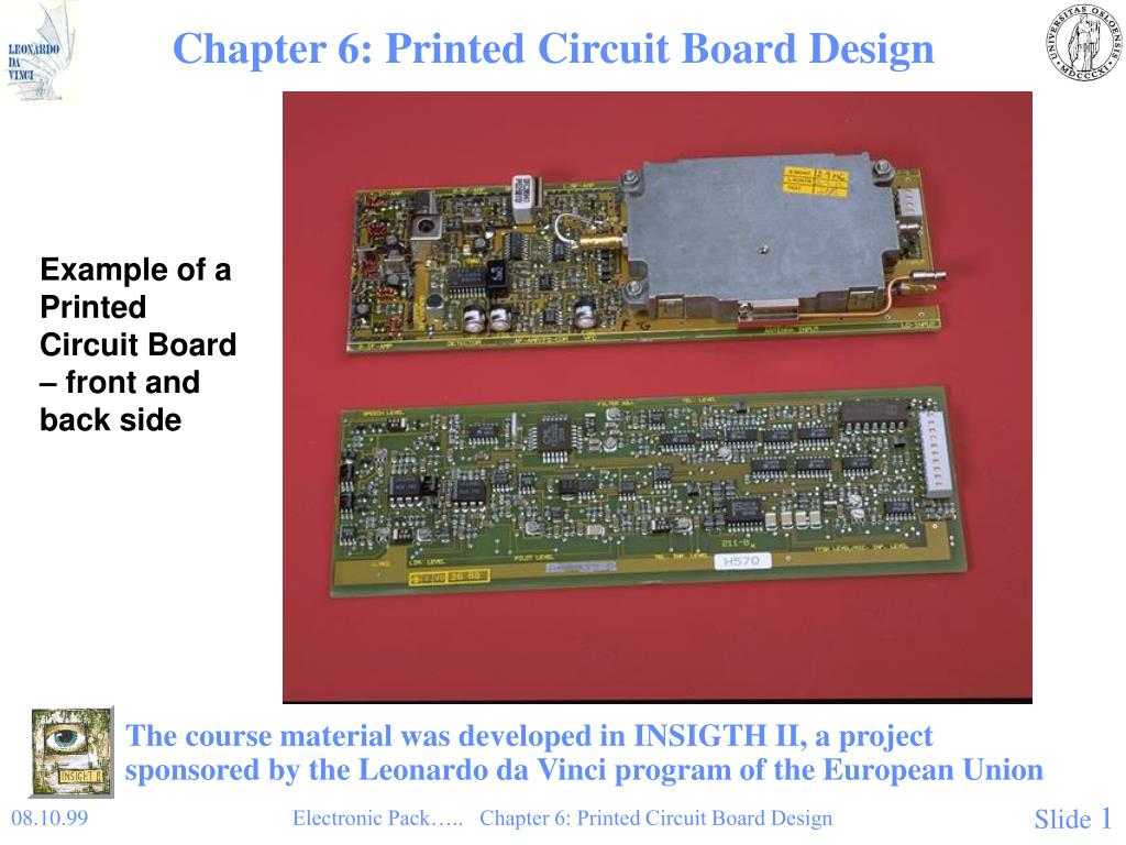 Ppt Chapter 6 Printed Circuit Board Design Powerpoint Example Of Electronic N