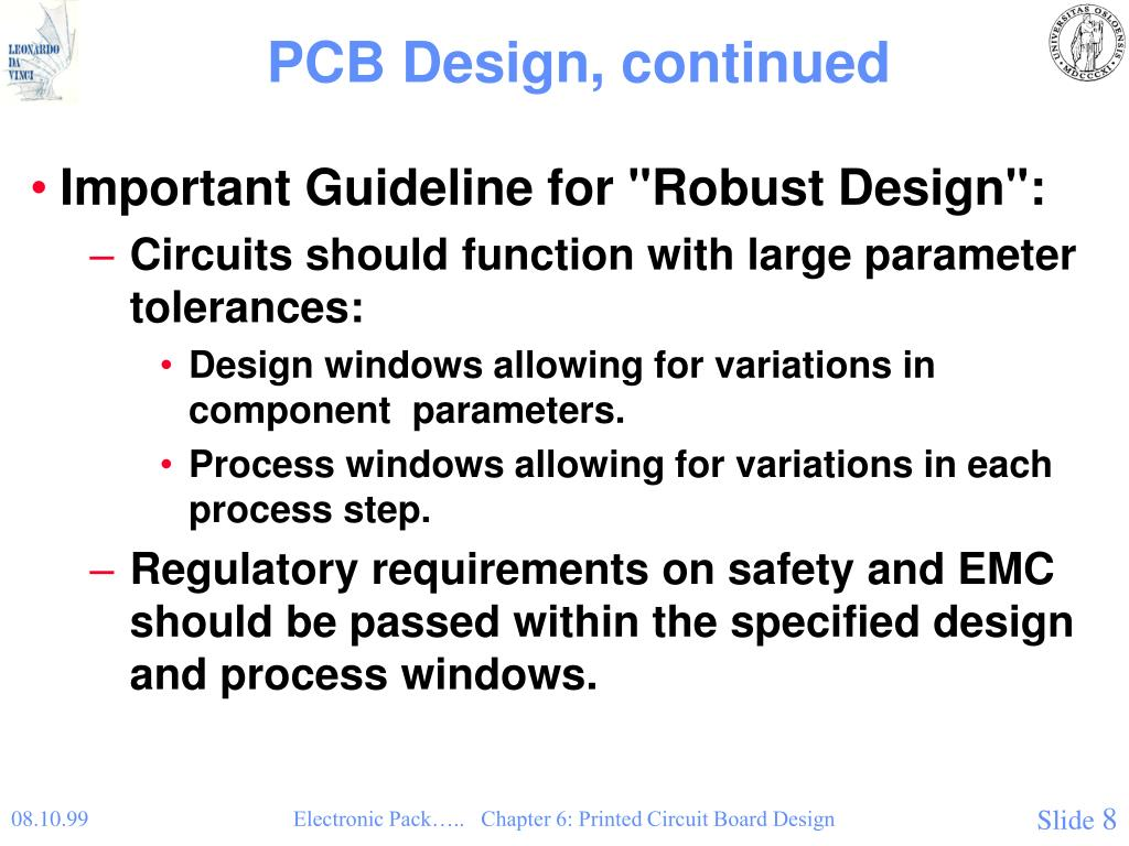 PPT - Chapter 6: Printed Circuit Board Design PowerPoint