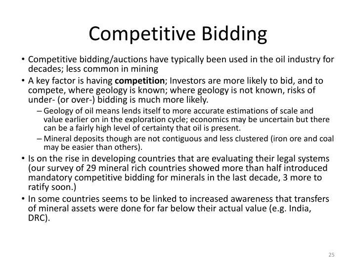 Competitive Bidding