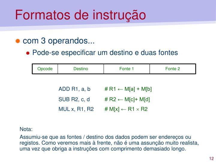 Formatos de instrução