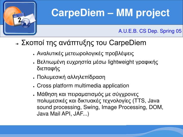 Carpediem mm project1