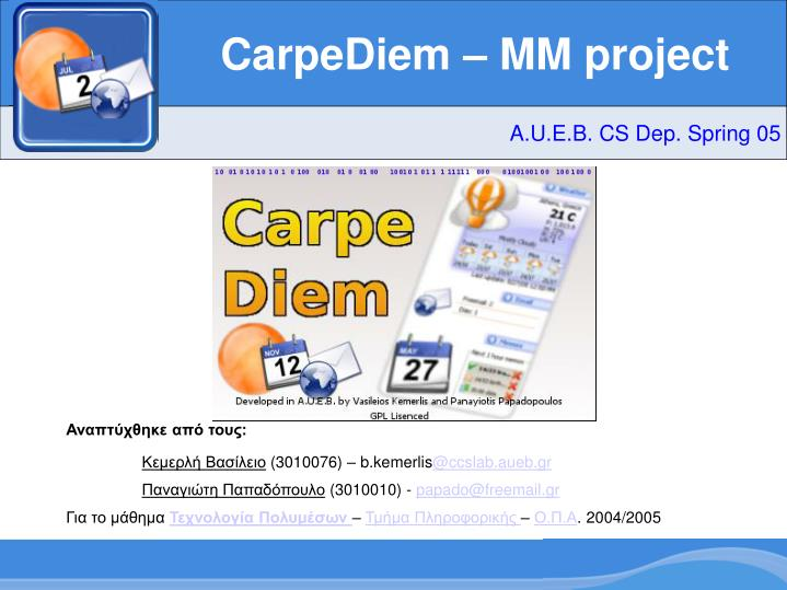CarpeDiem – MM project