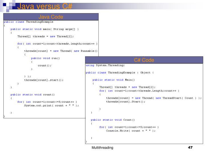 Java versus C#