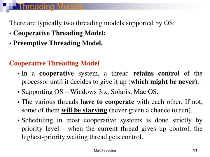 Threading Models