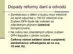 dopady reformy dan a odvod2