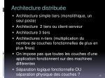 architecture distribu e1