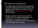 architectures distribu es