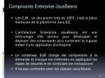 composants enterprise javabeans