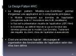 le design pattern mvc