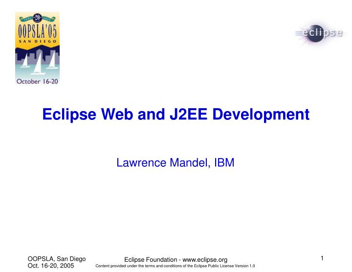 eclipse web and j2ee development n.