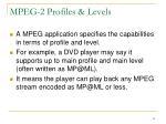 mpeg 2 profiles levels1