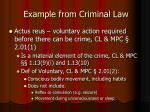 example from criminal law