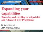 expanding your capabilities becoming and excelling as a specialist and advanced vet practitioner