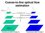 coarse to fine optical flow estimation1