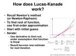 how does lucas kanade work