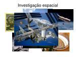 investiga o espacial