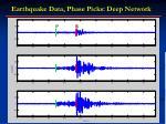 earthquake data phase picks deep network
