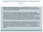 business and employment co operatives becs