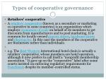types of cooperative governance