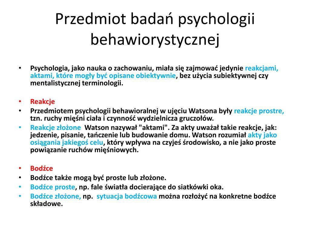 Ppt Wczesny B Ehavioryzm Powerpoint Presentation Free