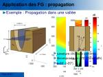 application des fg propagation