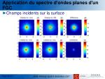 application du spectre d ondes planes d un fgc1