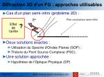 diffraction 2d d un fg approches utilisables