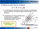 diffraction 2d d un fg approches utilisables2