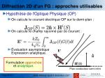 diffraction 2d d un fg approches utilisables3