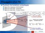 propagation d un fg