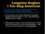 langston hughes i too sing american