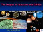 the images of voyayers and galileo