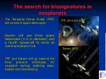 the search for biosignatures in exoplanets