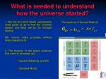 what is needed to understand how the universe started2