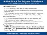 action steps for regions divisions check shs preparations memo for more details