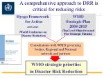 a comprehensive approach to drr is critical for reducing risks