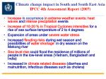 climate change impact in south and south east asia ipcc 4th assessment report 2007
