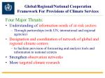 global regional national cooperation framework for provisions of climate services