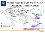 global regional network of wmo designated climate centers