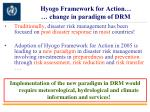 hyogo framework for action change in paradigm of drm