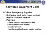 allowable equipment costs2