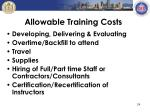 allowable training costs1