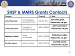 shsp mmrs grants contacts
