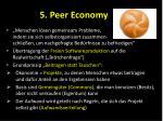 5 peer economy